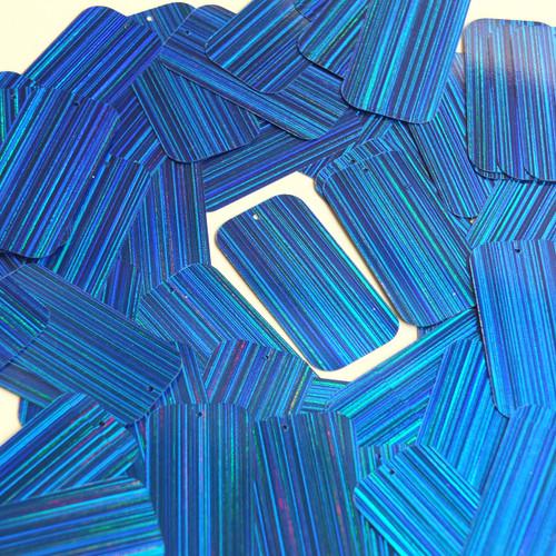 "Rectangle Sequin 1.5"" Royal Blue City Lights Metallic Reflective"