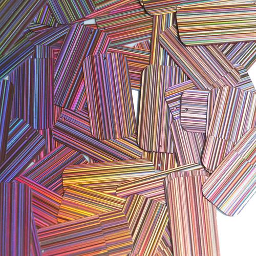 "Rectangle Sequin 1.5"" Lavender Lilac City Lights Metallic Reflective"