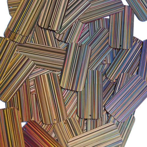 "Rectangle Sequin 1.5"" Peach City Lights Metallic Reflective"