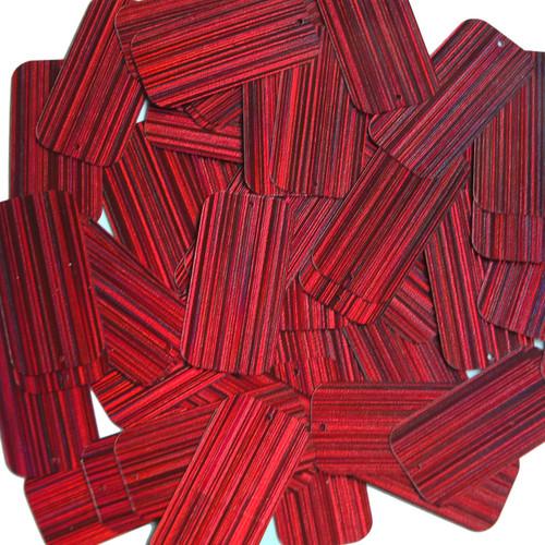 "Rectangle Sequin 1.5"" Red Wine Burgundy City Lights Metallic Reflective"