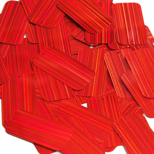"""Rectangle Sequin 1.5"""" Red City Lights Metallic Reflective"""