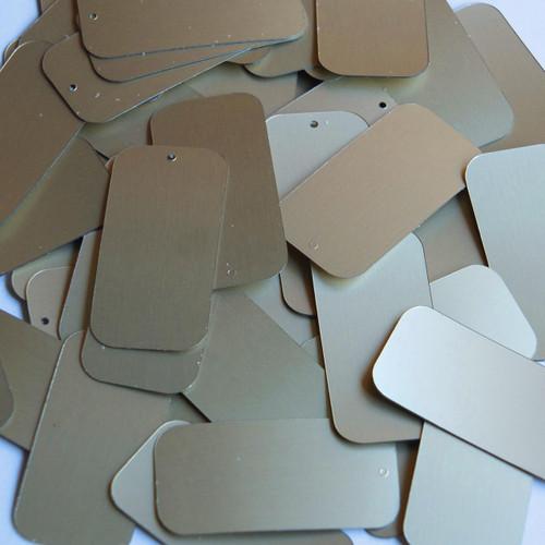 "Rectangle Sequin 1.5"" White Gold Matte Silk Frost Matte Silk Frost"