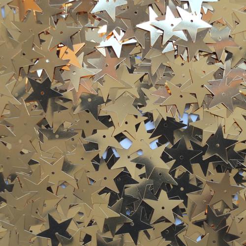 Star Sequin 15mm Gold Metallic