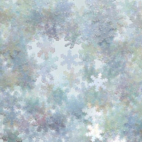 Snowflake Sequin 15mm Crystal Crystal Rainbow Iris Iridescent