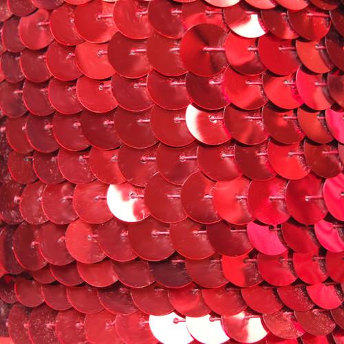 Sequin Trim 10mm Iron On Red Metallic