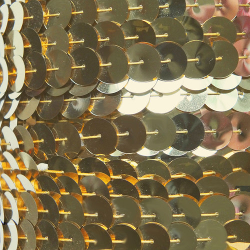 Sequin Trim 10mm Iron On Gold Metallic