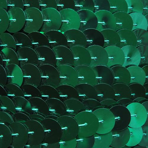 Sequin Trim 10mm Iron On Green Metallic