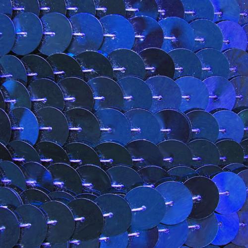 Sequin Trim 10mm Iron On Royal Blue Metallic