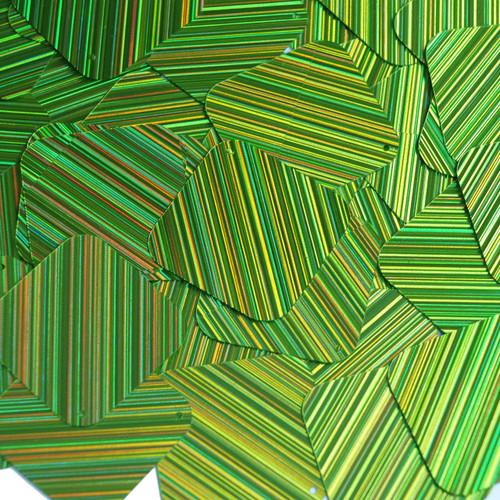 "Square Diamond Sequin 1.5"" Lime Green  City Lights Metallic Reflective"