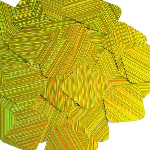 "Square Diamond Sequin 1.5"" Yellow City Lights Metallic Reflective"