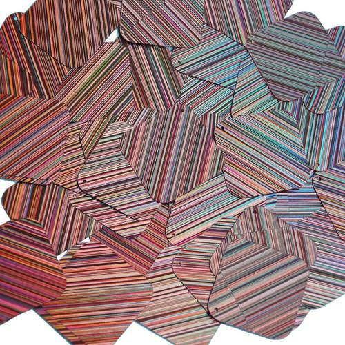 "Square Diamond Sequin 1.5"" Salmon Pink City Lights Metallic Reflective"