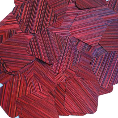 "Square Diamond Sequin 1.5"" Red Wine Burgundy City Lights Metallic Reflective"