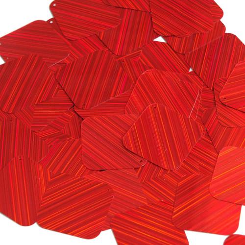 "Square Diamond Sequin 1.5"" Red City Lights Metallic Reflective"