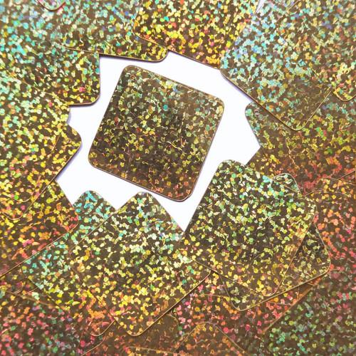 "Square Diamond Sequin 1.5"" Gold Hologram Glitter Sparkle Metallic"