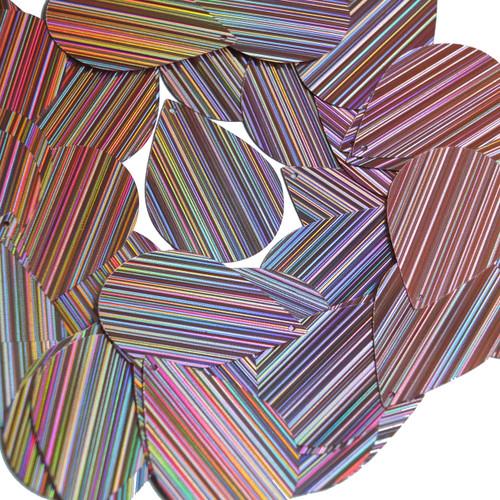 "Teardrop Sequin 1.5"" Lavender Lilac City Lights Metallic Reflective"