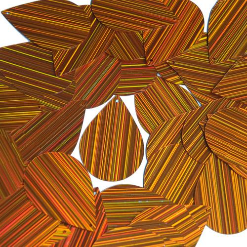 """Teardrop Sequin 1.5"""" Orange City Lights Metallic Reflective"""
