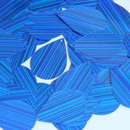 "Teardrop Sequin 1.5"" Royal Blue City Lights Metallic Reflective"
