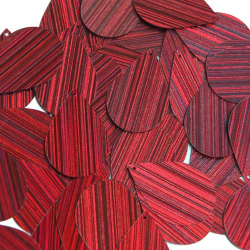 """Teardrop Sequin 1.5"""" Red Wine Burgundy City Lights Metallic Reflective"""