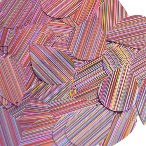 """Teardrop Sequin 1.5"""" Pink City Lights Metallic Reflective"""