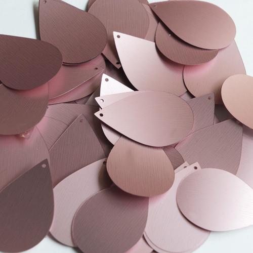 "Teardrop Sequin 1.5"" Pink Matte Silk Frost"