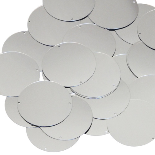 40mm Sequins Silver Metallic
