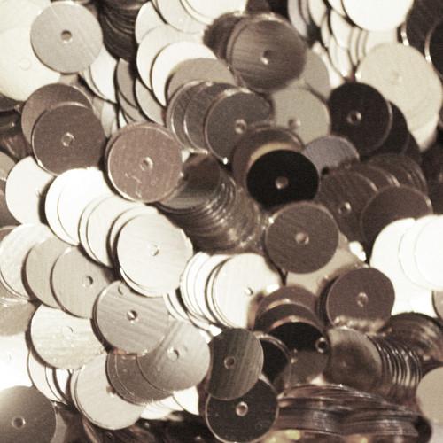10mm sequin silver metallic