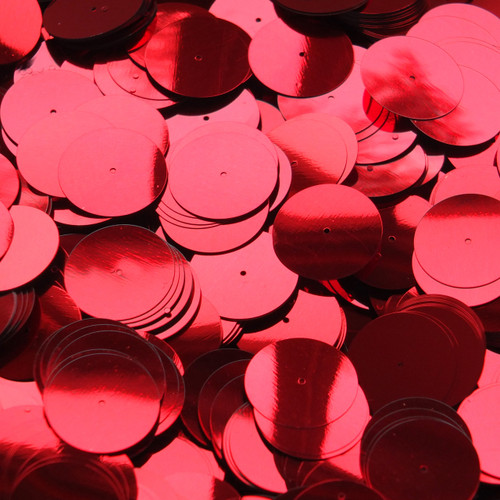 20mm Sequins Center Hole Red Metallic