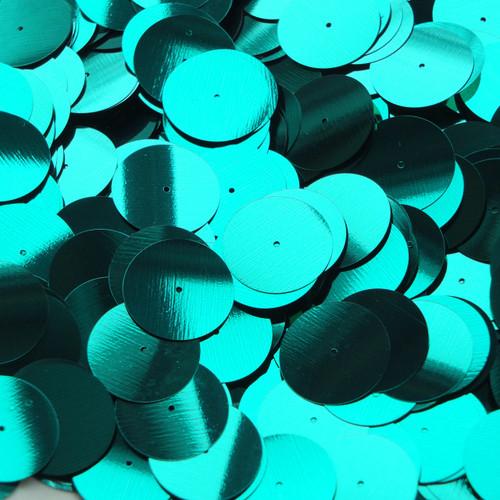 20mm Sequins Center Hole Emerald Jewel Metallic