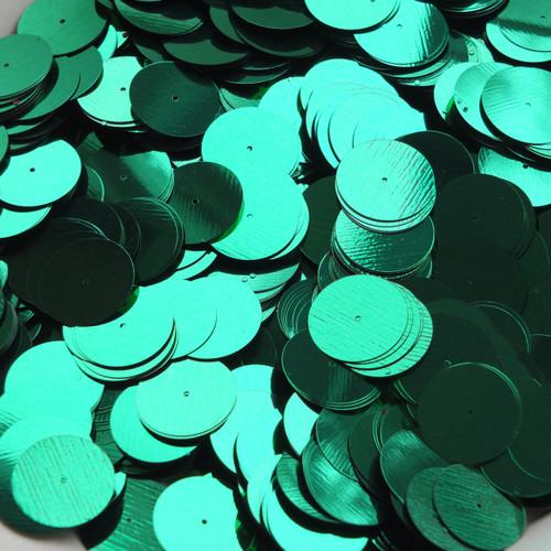 20mm Sequins Center Hole Green Metallic