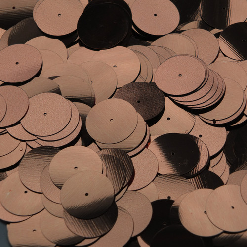 20mm Sequins Center Hole Bronze Brown Metallic