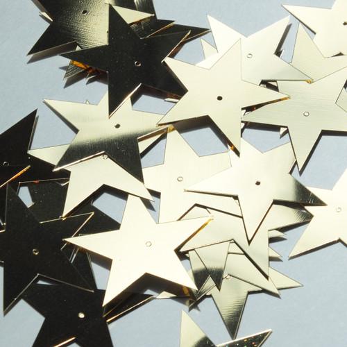 "Star 5 Point Sequin 1.5"" Gold Metallic"