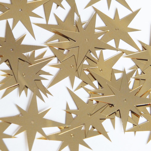 "North Star Sequin 1.5"" Gold Metallic"