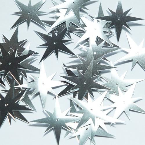"North Star Sequin 1.5"" Silver Metallic"