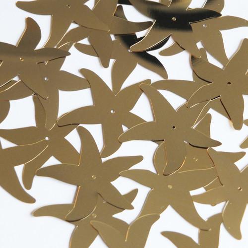 "Starfish Sequin Center Hole 1.5"" Gold Metallic"