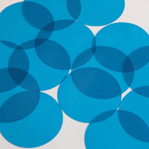 Vinyl Round No Hole 50mm Blue Go Go Transparent