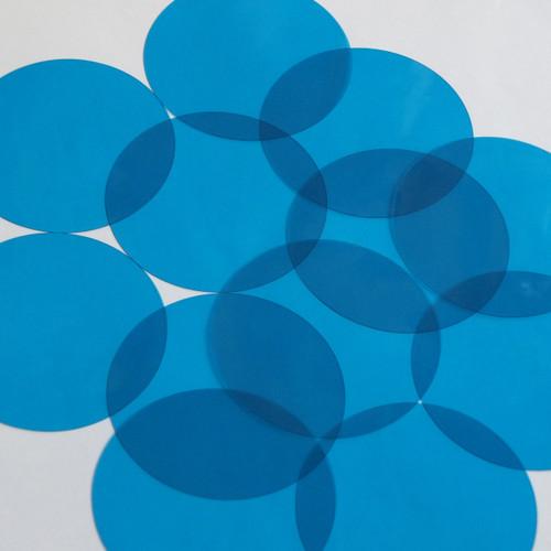 Vinyl Round No Hole 70mm Blue Go Go Transparent