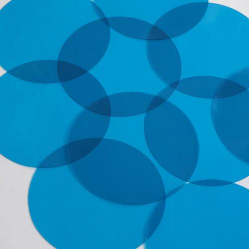"""Square Diamond Vinyl Shape 1.5"""" Blue Go Go Transparent"""