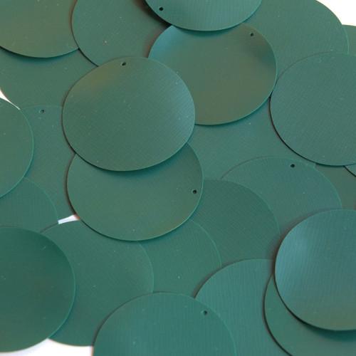 "Round Vinyl Shape 1.5"" Forest Green Opaque"