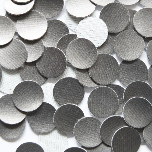 15mm Vinyl Disc Gray Smooth Banded  No Hole Round Circle