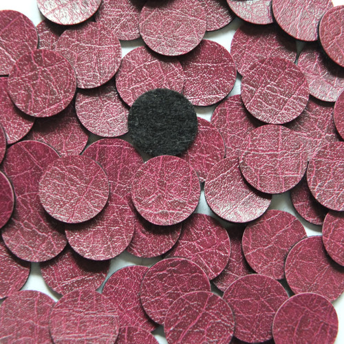 15mm Vinyl Disc Plum Purple Leather No Hole Round Circle
