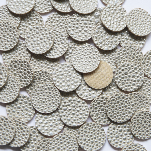 15mm Vinyl Disc White Gold Speckles No Hole Round Circle