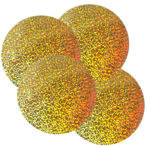 """Round Sequins 4"""" / 100mm Gold Hologram Glitter Sparkle Metallic"""