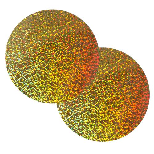 """Round Sequins 6"""" / 150mm Gold Hologram Glitter Sparkle Metallic"""