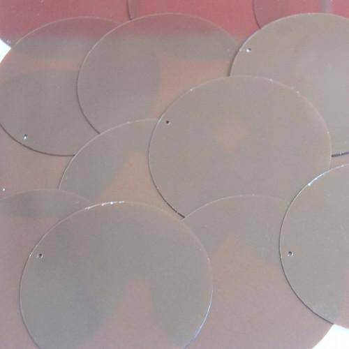"""Round Sequins 2"""" Cocoa Brown Rigid Transparent"""