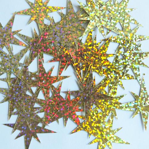 "North Star Sequins 1.5"" Gold Hologram Glitter Sparkle Metallic"