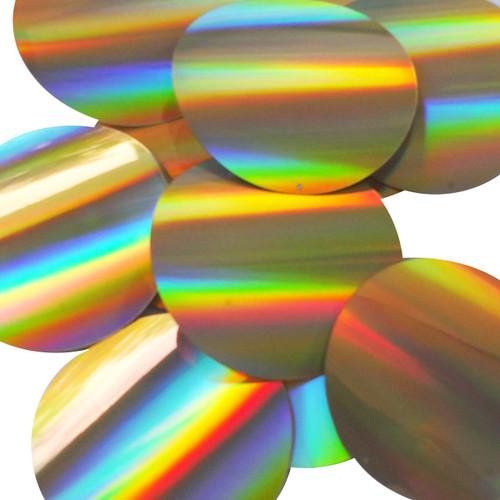 Round Sequins 70mm Gold Lazersheen Reflective Metallic