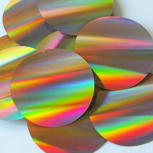 Round Sequins 70mm 2 hole Gold Lazersheen Reflective Metallic