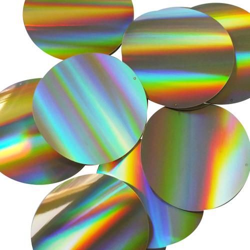 "Round Sequins 3"" Gold Lazersheen Reflective Metallic"