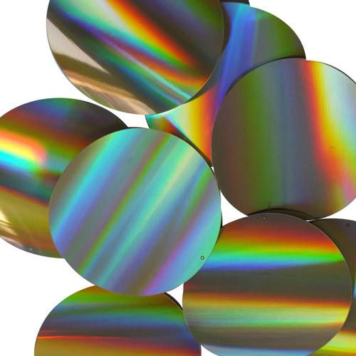 "Round Sequins 4""  / 100mm Gold Lazersheen Reflective Metallic"