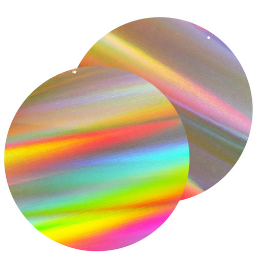 "Round Sequins 6"" / 150mm Gold Lazersheen Reflective Metallic"